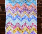 Chevron Vintage Sheet Baby Quilt Kit - multi coloured