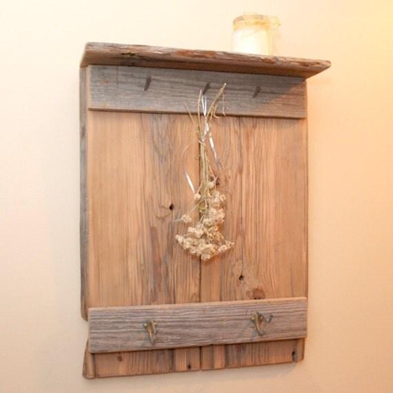 Barn Board Shelf And Coat Rack