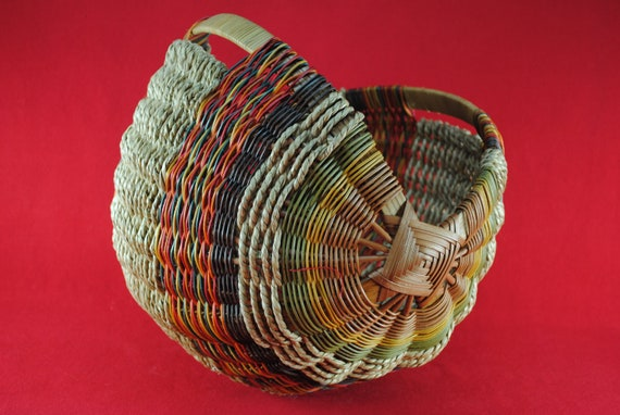 Wood Basket Weaving Supplies : Items similar to scottish yarn basket on etsy
