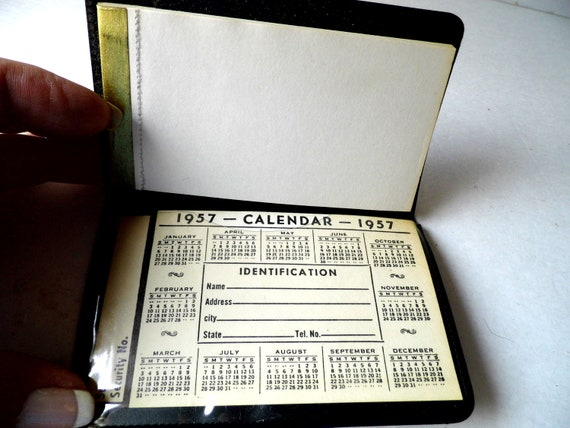 Calendar and Note Pad Book, Total True Retro Mad Men Advertising from 1957 from All Vintage Man