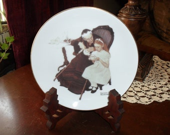THe Handkerchiefs Norman Rockwell Collector Plate