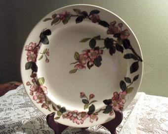 Blossom and Sons Cherry Blossom Pattern Plate  Vintage Decorator Plate