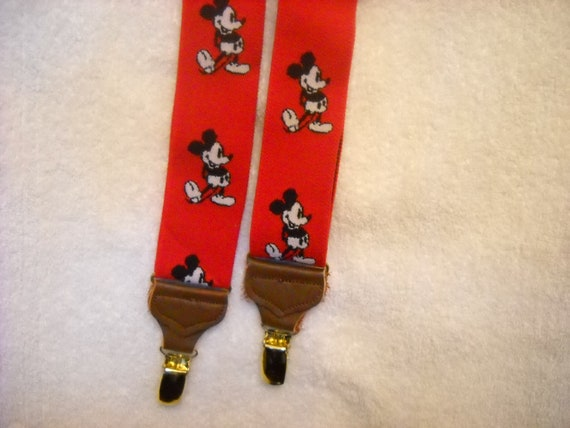 suspenders Vintage mickey mouse