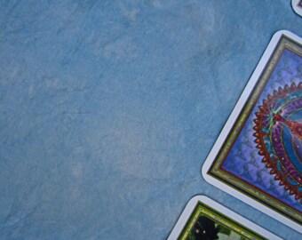 """Morning Sky Silk Tarot Cloth - Altar Cloth - Hand Dyed 20""""x20""""...100% silk"""