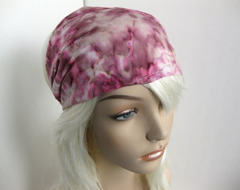 Womens Headband Gypsy Head Wrap Dreadband Womens Bandana Headband Pink Rose Brown Batik Headband Tie Dye Headband Hair Accessory Womens Gift
