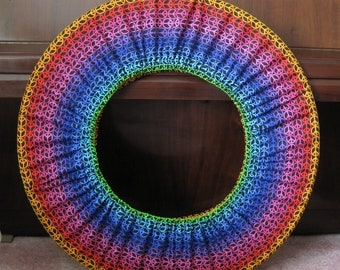 Hula Hoop Cover Hugger Storage Bag Rainbow Peace Signs Hoop Holder Hoop Travel Hoop Huggie