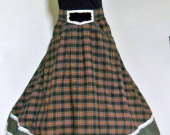 1950's  Plaid Cotton Skirt