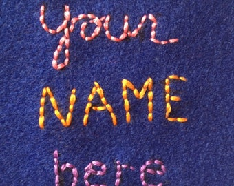 Personalize your Tooth fairy Pillow- Add an Embroidered Name