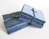 100 5x5 jean denim quilt squares