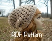 PATTERN:  Decatur Street Hat, easy crochet, slouch hat, beanie, crochet, adult, teen, pdf, fall hat, Permission to Sell