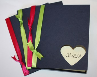 Wedding Programs - custom colors for every wedding