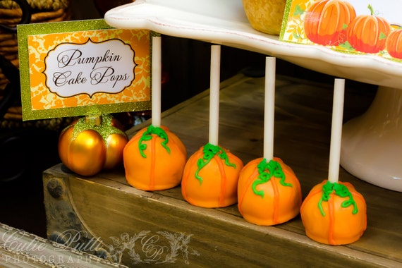Fall, Halloween or Thanksgiving Pumpkin Upside Down Cake Pops - Great for the Holidays