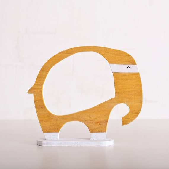 Wooden photo frame in a gift box, Elephant, Home Decor. Art. Decorative Toys For Room, Child's Room Decoration