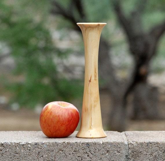 """Bud Vase of Reclaimed Aspen Wood - 9 1/8"""" tall & 2 1/2"""" diameter"""