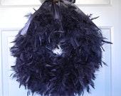 Custom Order - EXTRA FULL solid black wreath