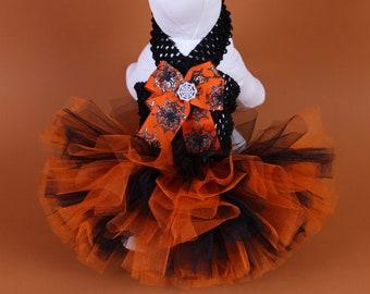 HALLOWEEN Dog Tutu Dress -- Creepy Crawly