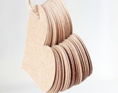 Kraft Paper Heart Tags - Hang Tags - Heart Tags - Wedding Favor Tags - 2.25 inch Tags