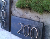 Modern Address Plaque with 3 Floating Numbers