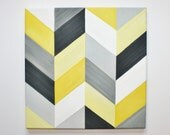 """MADE TO ORDER 12"""" x 12"""" Chevron Acrylic Painting"""