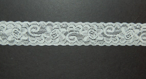 Very Popular New Item 1 inch Off white (Ivory) LACE ELASTIC for headband 5 yards