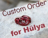 Custom order - RESERVED for Hülya - It's a Wrap -  Wire Wrapped Ring - Size 8 - READY to SHIP