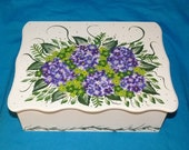 Decorative Wedding Card Box - Wood Wedding Card Box, Hydrangeas, Wedding Keepsake Box, Wedding Gift Card Box, Victorian, Personalized Large
