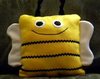Child's Pillow, Bee Pillow - Fun Pillow - Animal Pillow - Pillow Pal, Frog Design -  Toy Pillow - Plush Toy -  Stuffed Toy -  Childs Gift