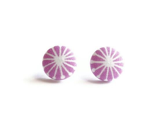Button Earrings, Surgical Steel Earring, Stud Earings, Fabric Earrings, Jewlery, Stud Earrings, Stud Earring, Fabric Earring, KAYEganda