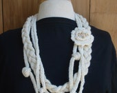 Neckles knit /crochet wear like jewelery.