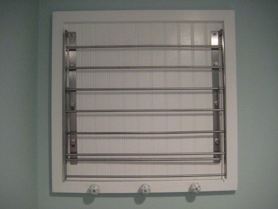 Wonderful Etsy Wall Mounted Laundry Drying Rack