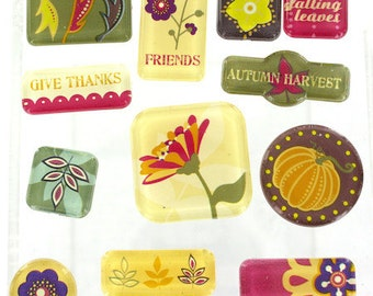Fall Autumn Acrylic Tile Stickers