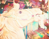 Carousel Horse - 8x10 photograph - fine art print - whimsical carnival photography - colorful - nursery art