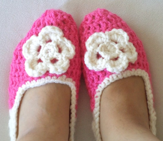 Adult Wool Crochet Slippers, Thick, Simply slippers, Women slippers  house shoes, wedding shoes, soks, slippers, shoes