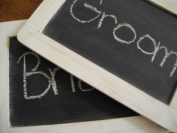 RESERVED Small Framed Chalkboard Signs (Set of 2)