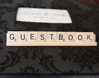 Scrabble Guestbook sign