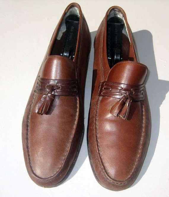 Reserved Playboy JARMAN slip on Mens Shoes Loafer Style with Tassel Sz 12 Brown