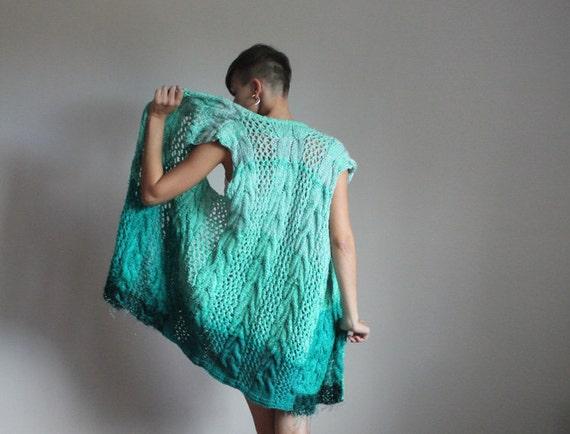 Long knit boho vest