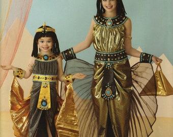 Simplicity Costume Sewing Pattern 0814 (aka 2329) - Child's & Girls' Egyptian Costumes (3-6, 7-14)