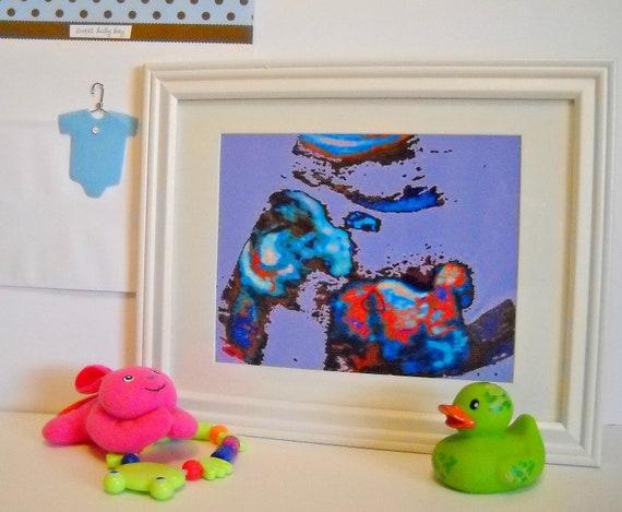 Ultrasound Art - 5 x7 artwork in an 8x10 Frame -Custom Newborn Baby Gift - Baby Shower Gift - Framed Sonogram  - Unique Baby Gift-TAGT