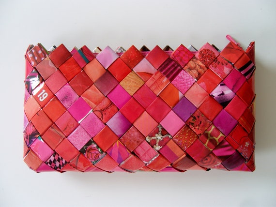 Candy wrapper purse, clutch