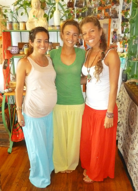"Boho Maternity Pants - Wide Leg  ""FREE SHIPPING"""