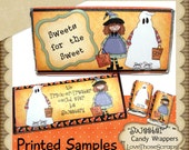 Printable Halloween Candy Wrapper Set - Sweeter