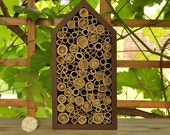 Insect hotel, beehive for solitary bees - Honeycomb Chocolate pine