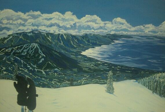 On Sale -Third Creek Run 30 x 40 acrylic on canvas