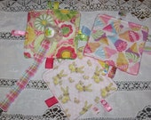 Baby Toys, Crinkle ribbon Toy,  pacifier keeper,  2 pc set, you choose the set...