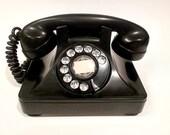 Black Rotary Phone -  1946 North Electric Galion Phone