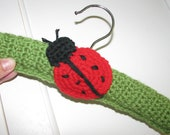 Ladybug Crochet Hanger/Baby Hanger/Decorative/Room Decor/Doll Clothes/Baby Gift
