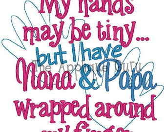 My Hands May be Tiny -- Machine Embroidery Design