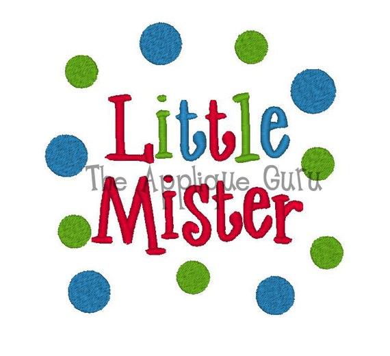 Little Mister -- Machine Embroidery Design