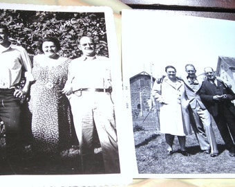 Old Snapshots......Menage A Trois......1940's Photos....Trios In Front Of Tenaments